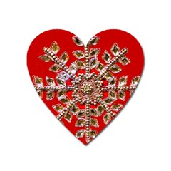 Snowflake Jeweled Heart Magnet