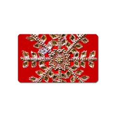 Snowflake Jeweled Magnet (Name Card)