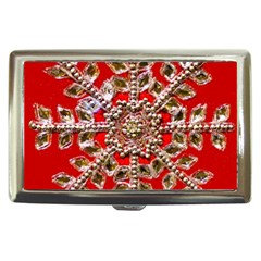 Snowflake Jeweled Cigarette Money Cases