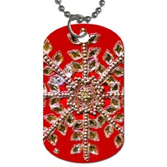 Snowflake Jeweled Dog Tag (Two Sides)