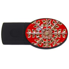 Snowflake Jeweled USB Flash Drive Oval (2 GB)