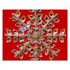 Snowflake Jeweled Rectangular Jigsaw Puzzl