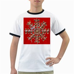 Snowflake Jeweled Ringer T-Shirts
