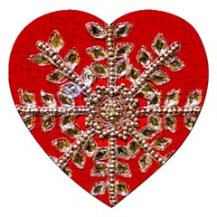 Snowflake Jeweled Jigsaw Puzzle (Heart)