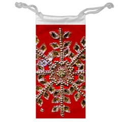 Snowflake Jeweled Jewelry Bag
