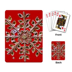 Snowflake Jeweled Playing Card