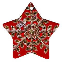 Snowflake Jeweled Star Ornament (Two Sides)