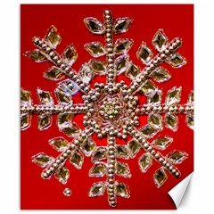 Snowflake Jeweled Canvas 8  x 10