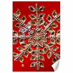 Snowflake Jeweled Canvas 20  X 30