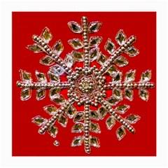 Snowflake Jeweled Medium Glasses Cloth (2-Side)