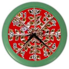 Snowflake Jeweled Color Wall Clocks
