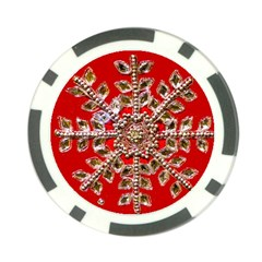 Snowflake Jeweled Poker Chip Card Guard