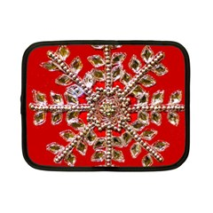 Snowflake Jeweled Netbook Case (Small)