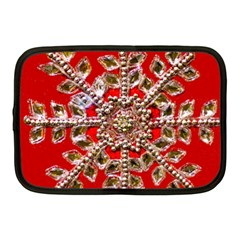 Snowflake Jeweled Netbook Case (Medium)