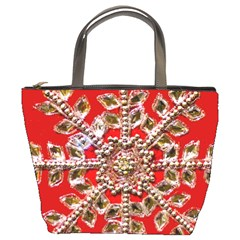 Snowflake Jeweled Bucket Bags