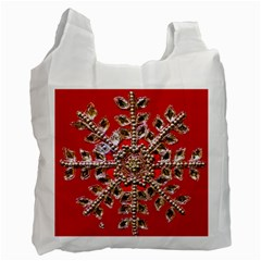 Snowflake Jeweled Recycle Bag (Two Side)