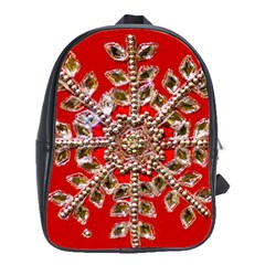Snowflake Jeweled School Bags(large)