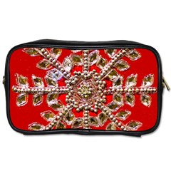 Snowflake Jeweled Toiletries Bags 2 Side