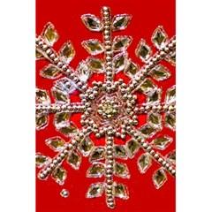 Snowflake Jeweled 5 5  X 8 5  Notebooks