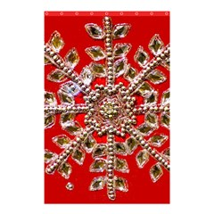 Snowflake Jeweled Shower Curtain 48  x 72  (Small)