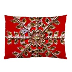 Snowflake Jeweled Pillow Case (two Sides)
