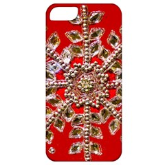 Snowflake Jeweled Apple iPhone 5 Classic Hardshell Case
