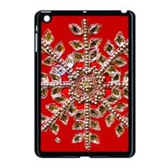 Snowflake Jeweled Apple Ipad Mini Case (black)