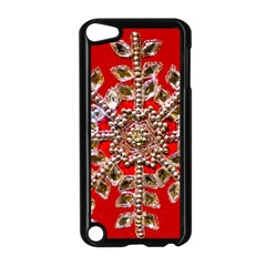 Snowflake Jeweled Apple Ipod Touch 5 Case (black)
