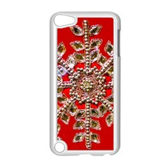 Snowflake Jeweled Apple Ipod Touch 5 Case (white)