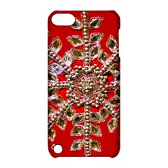 Snowflake Jeweled Apple Ipod Touch 5 Hardshell Case With Stand