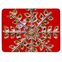 Snowflake Jeweled Samsung Galaxy Tab 7  P1000 Flip Case