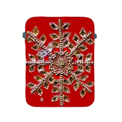 Snowflake Jeweled Apple Ipad 2/3/4 Protective Soft Cases