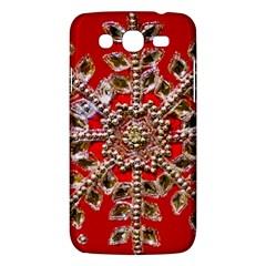 Snowflake Jeweled Samsung Galaxy Mega 5.8 I9152 Hardshell Case