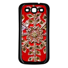 Snowflake Jeweled Samsung Galaxy S3 Back Case (black)