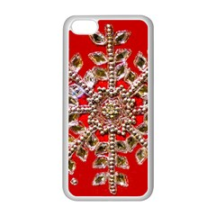 Snowflake Jeweled Apple Iphone 5c Seamless Case (white)