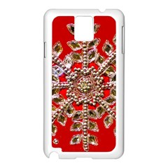 Snowflake Jeweled Samsung Galaxy Note 3 N9005 Case (white)