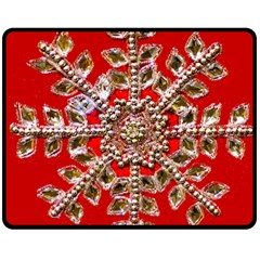 Snowflake Jeweled Double Sided Fleece Blanket (medium)