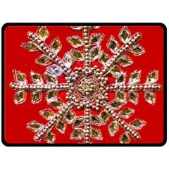 Snowflake Jeweled Double Sided Fleece Blanket (large)