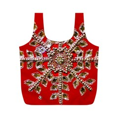 Snowflake Jeweled Full Print Recycle Bags (m)