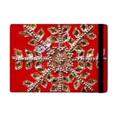 Snowflake Jeweled Ipad Mini 2 Flip Cases