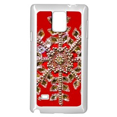 Snowflake Jeweled Samsung Galaxy Note 4 Case (white)