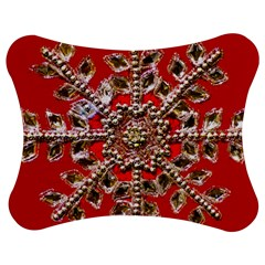 Snowflake Jeweled Jigsaw Puzzle Photo Stand (Bow)