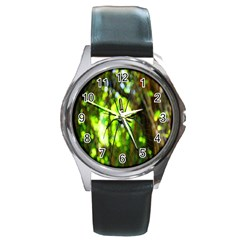 Spider Spiders Web Spider Web Round Metal Watch