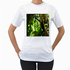 Spider Spiders Web Spider Web Women s T Shirt (white) (two Sided)