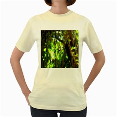 Spider Spiders Web Spider Web Women s Yellow T-Shirt