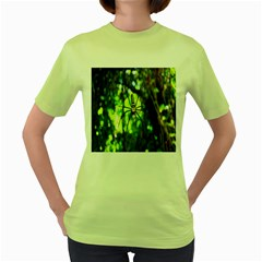 Spider Spiders Web Spider Web Women s Green T-Shirt