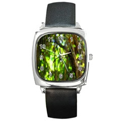 Spider Spiders Web Spider Web Square Metal Watch