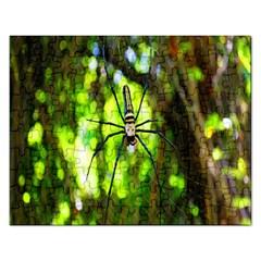 Spider Spiders Web Spider Web Rectangular Jigsaw Puzzl