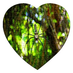 Spider Spiders Web Spider Web Jigsaw Puzzle (heart)