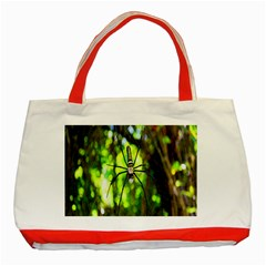 Spider Spiders Web Spider Web Classic Tote Bag (Red)